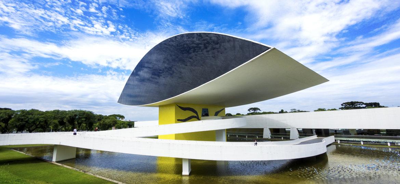 Oscar Niemeyer Museum (aka Mon) In Curitiba, Parana, Brazil